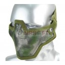 'Loadout Master' Forest Camo Print Steel Lower Face Mesh Mask